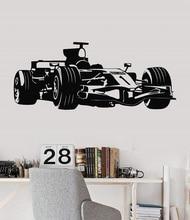 Vinyl wand aufkleber Formula One racing sport auto enthusiasten jugend zimmer shool schlafsaal hause dekoration wand aufkleber 2CE15