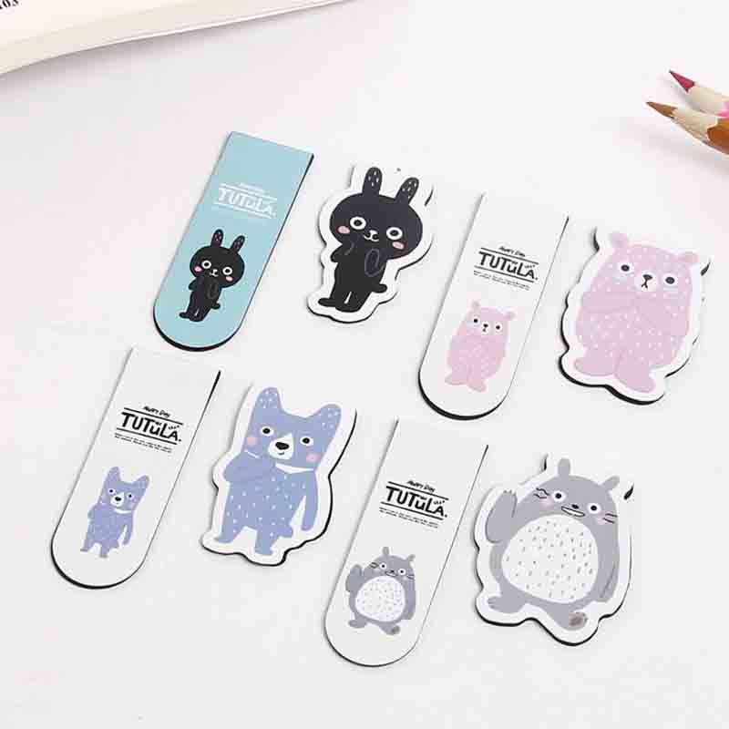 2Pcs/Pack Novelty Totoro And Friends Rabbit Magnet Bookmark Paper Clip School Office Supply Escolar Papelaria Gift Stationery