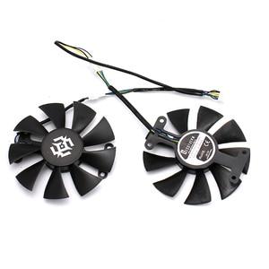 Image 2 - Nova 85mm 4Pin Ventilador Cooler Fan Substituir Para ZOTAC GTX1060 6 GB GTX1050 GTX1050Ti GTX 1060 Placa Gráfica Arrefecimento fã