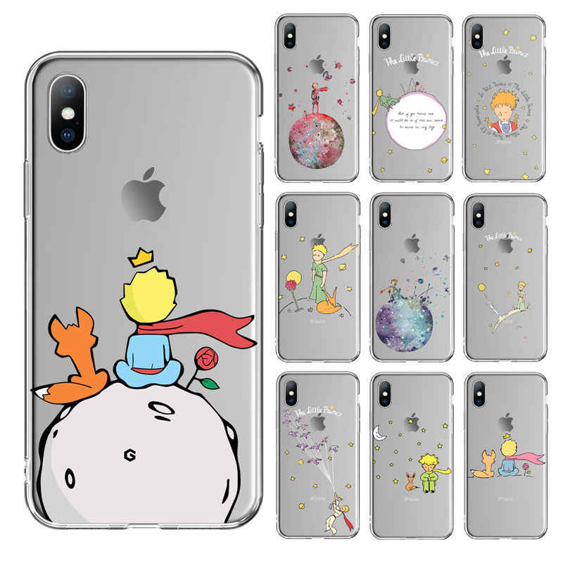 Ottwn Phone Case For iPhone 11 Pro XS Max X XR 7 8 6 6s Plus 5 5s SE Clear Little Prince Back Cover Rose Flowers Soft TPU Case