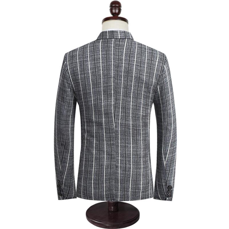 LONMMY 4XL 5XL Men blazers and jackets Stripe Wedding dress suit men coats slim fit Casual blazer masculino 3piece 2018 Spring