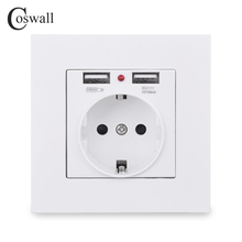Indicator Panel Outlet Power-Socket Charging-Port Wall Gold White Black 16A 5V EU Grey
