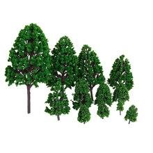 12 шт 1,2 дюймов-6,3 дюймов зеленый поезд набор Декоративный Пейзаж Модель Дерево весы 1/50