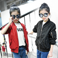Fashion Embroidery Bomber Jacket for Girl 2017 New Trendy Spring Long Sleeve V-neck Baby Girl Jacket Active Kids Children Coat