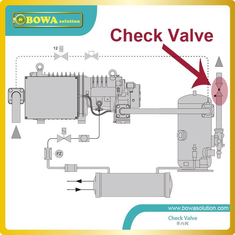 Válvula de una vía del émbolo de 2 1/8 con el tubo de extensión con el eje horizontal y la cubierta de la válvula hacia arriba reemplazar parker de la válvula de retención - 2