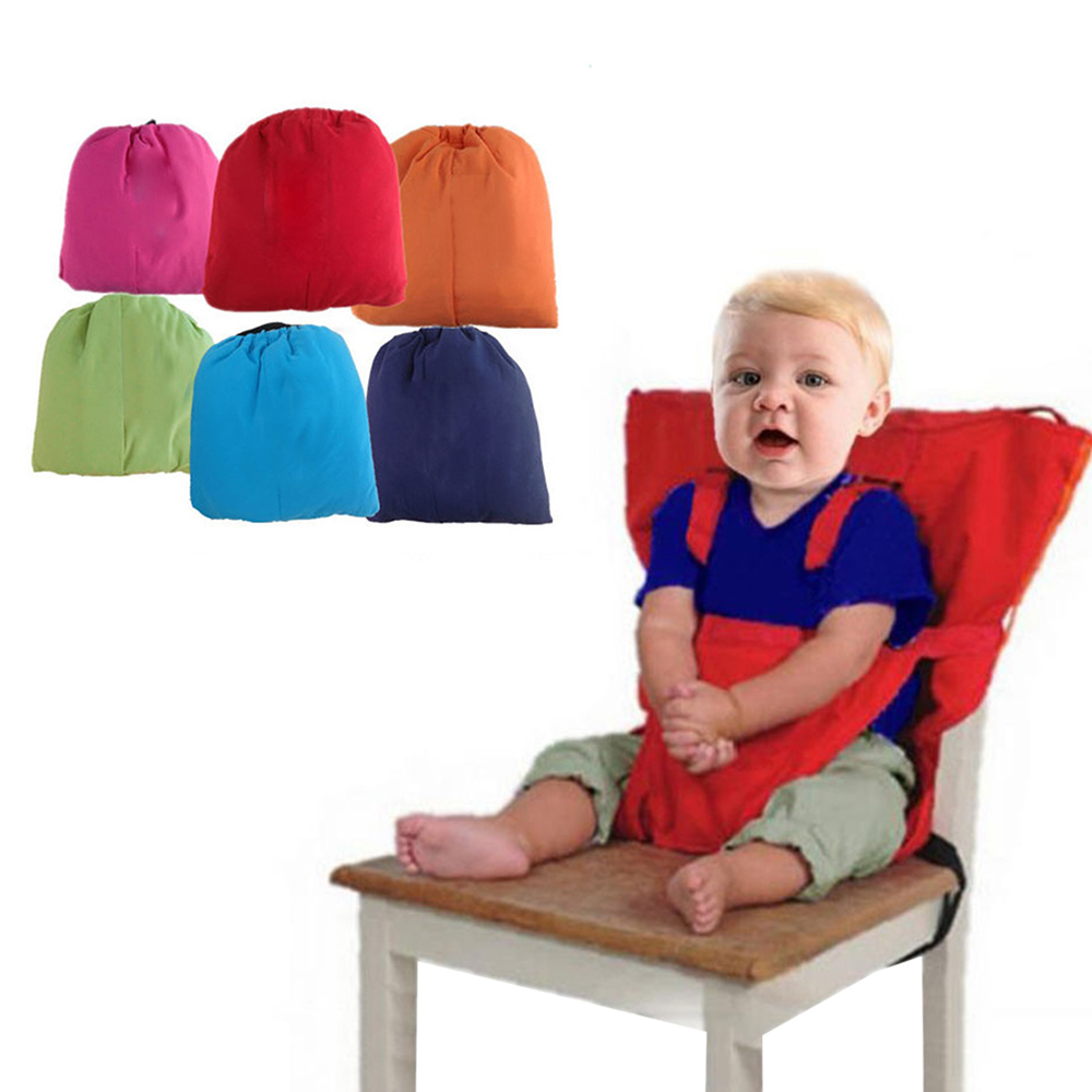 Portable Baby Chair Travel Foldable Washable Baby Infants Dining Lunch Feeding High Chair Infant Safety Harness Belt Booster