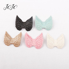 JOJO BOWS 10pcs Glitter Patches Shiny Solid Wings Accessories Garment Decoration DIY Craft Supplies Handmade Hair Bows Materials