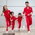 Осень и зима хлопка майка мать и дочь сын активные одежда соответствующие семьи устанавливает семья 9918xy
