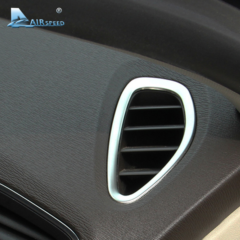 Image 2 - Airspeed for Volvo V40 Accessories for Volvo V40 2012 2013 2014 2015 2016 2017 Stickers Interior Stainless Steel AC Outlet Frame-in Car Stickers from Automobiles & Motorcycles