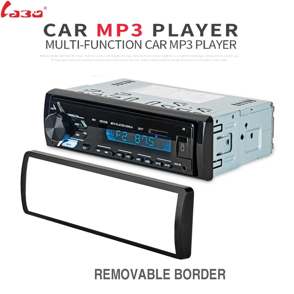LaBo Car Radio MP3 USB Bluetooth Autoradio 1 Din Stereo Audio SD USB MMC Tuner High Power Head Unit 3010 1012 3077 fixed panel 1 din bluetooth autoradio car mp3 player usb auto radio stereo indash head unit iso connectror sx 33000by