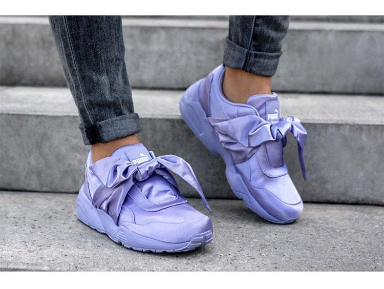 73b8512b651 Puma Rihanna Fenty X Bow Trinomic Sneakers Big Ties Women s Badminton Shoes  Silk Lace-up Sport Walking Shoe Eur Size