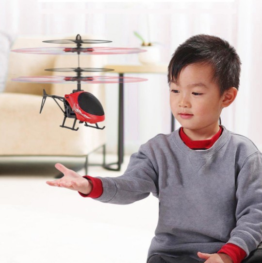 Mini RC drone Flying RC Helicopter Aircraft dron Infrared Induction LED Light Remote Control drone dron Kids Toys free shipping 1