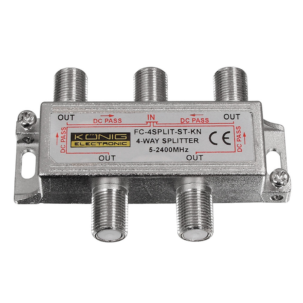 Hot Deal 4 Way Satellite Cable signal 5-2450MHZ Splitter