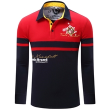 2016 Mix Color Polo Shirts Long Sleeve Men's Fashion Classic Homme Camisa Polo Shirts T0063