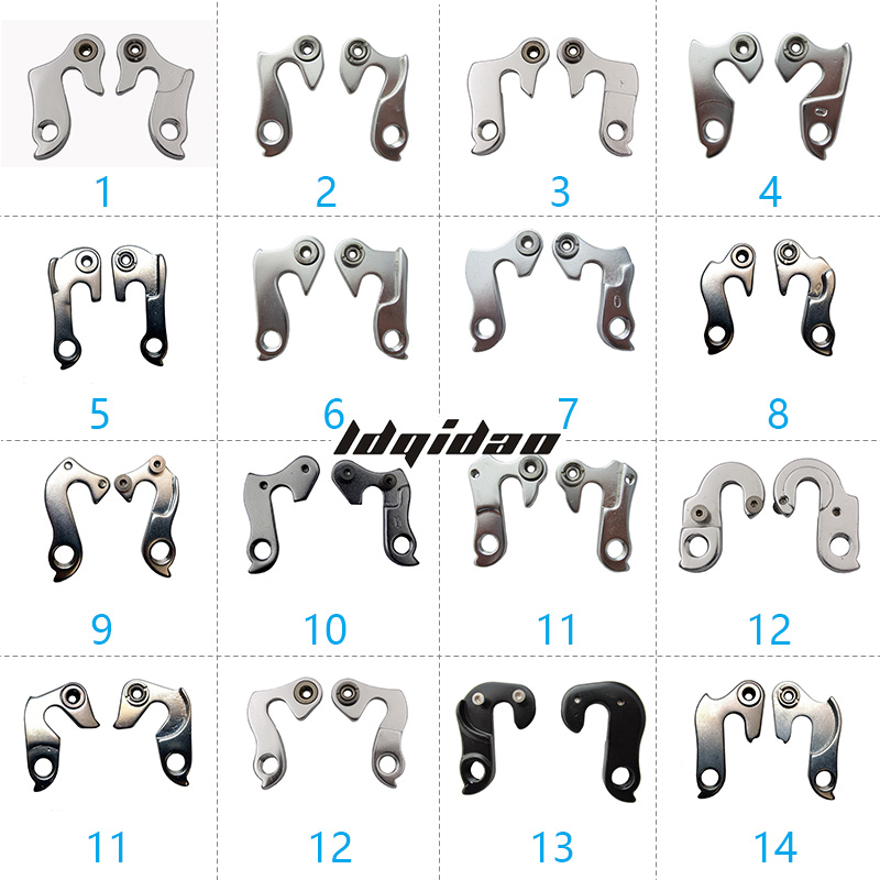 Bike Rear Derailleur Hanger 1PC Bike Bicycle MTB Rear Gear Mech Derailleur Hanger Dropout Convertor Adapter