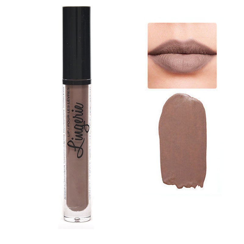 New Nude Matte Lipstick Waterproof Brown Purple Red Lips -2059