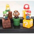 """Super Mario Bros 5.5 см 2 """"Цифры Игрушки Модель Набор Марио Goomba Луиджи Купа Troopa Гриб Рис Модель Подарок"""