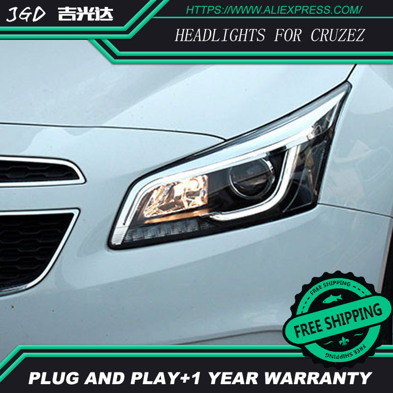 Car Styling Head Lamp for Chevrolet Cruzez Headlights Cruzez LED Headlight DRL H7 D2H Hid Bi Xenon Beam чехол на сиденье skyway chevrolet cobalt седан ch2 2