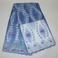 Best Selling African Lace Fabric sky blue Nigerian French lace Fabric 2018 High Quality New arrived for women wedding/ dress 30