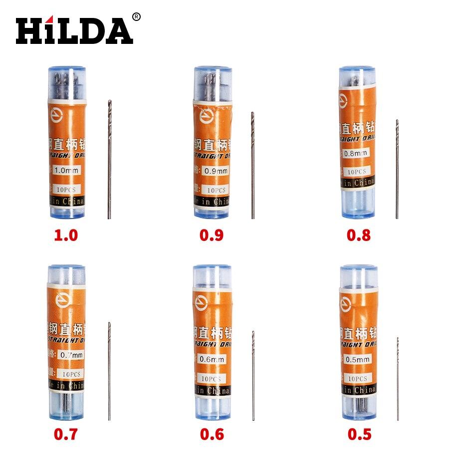 HILDA 120PCS HSS Straight Shank Twist Drill Walnut Vajra Bodhi Pearl Beads Punch Tiny Little Bit 0.5 0.6 0.7 0.8 0.9 1.0 Mm
