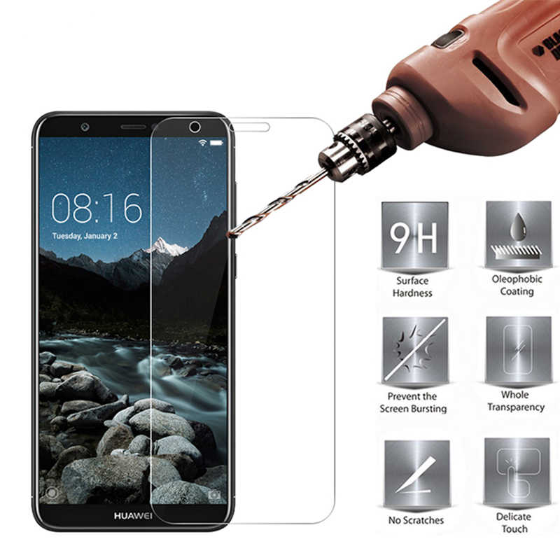 9h Glass on the For Huawei Honor 10 8x 8 Tempered Glass Screen Protector 2.5D HD Protective Film For Huawei Honor 7a 8x 8 9 Lite