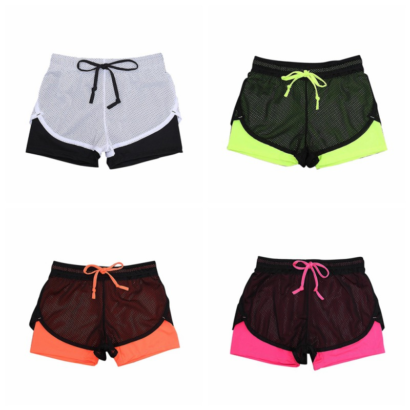 2018 New Comfortable Women Workout Short Femme Fitness Shorts Exercise Bodybuilding Quick Dry Absorb Sweat Shorts