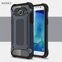 For Samsung Galaxy J5 2015 Case Heavy Duty Armor Slim Hard Rubber Cover Silicone Phone Case for Samsung J5 2015 J5000 J500F (