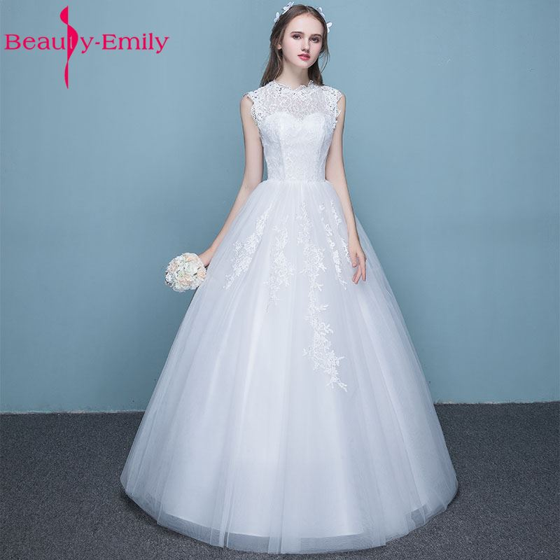 Simple Wedding Gowns 2017: Beauty Emily Sext Simple White Wedding Dresses 2017 Scoop
