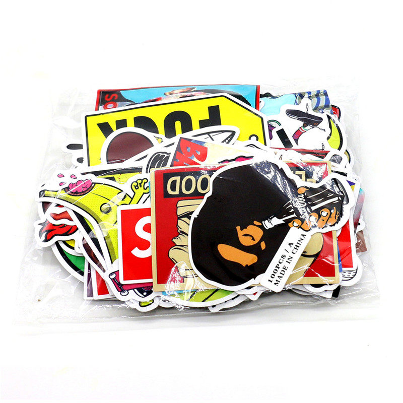 Car Styling A Set Joke Sticker For Motorcycle BIKE CAR UNIT SCOOTER DECALS Skateboard Graffiti Snowboard Bags STICKERS