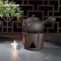 Vintage Tea Furnace Ceramic Pottery Warmer Warm Tea Stove Alcohol Lamp Candle Heating Coffee Milk Tea Sake Heater Teapot Holder