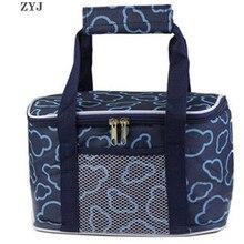 ZYJ сумка для пикника, водостойкая сумка-холодильник для ланча, алюминиевые термо-банки для корма, сумка для хранения плеча, водонепроницаемая коробка, сумка для хранения льда автомобиля