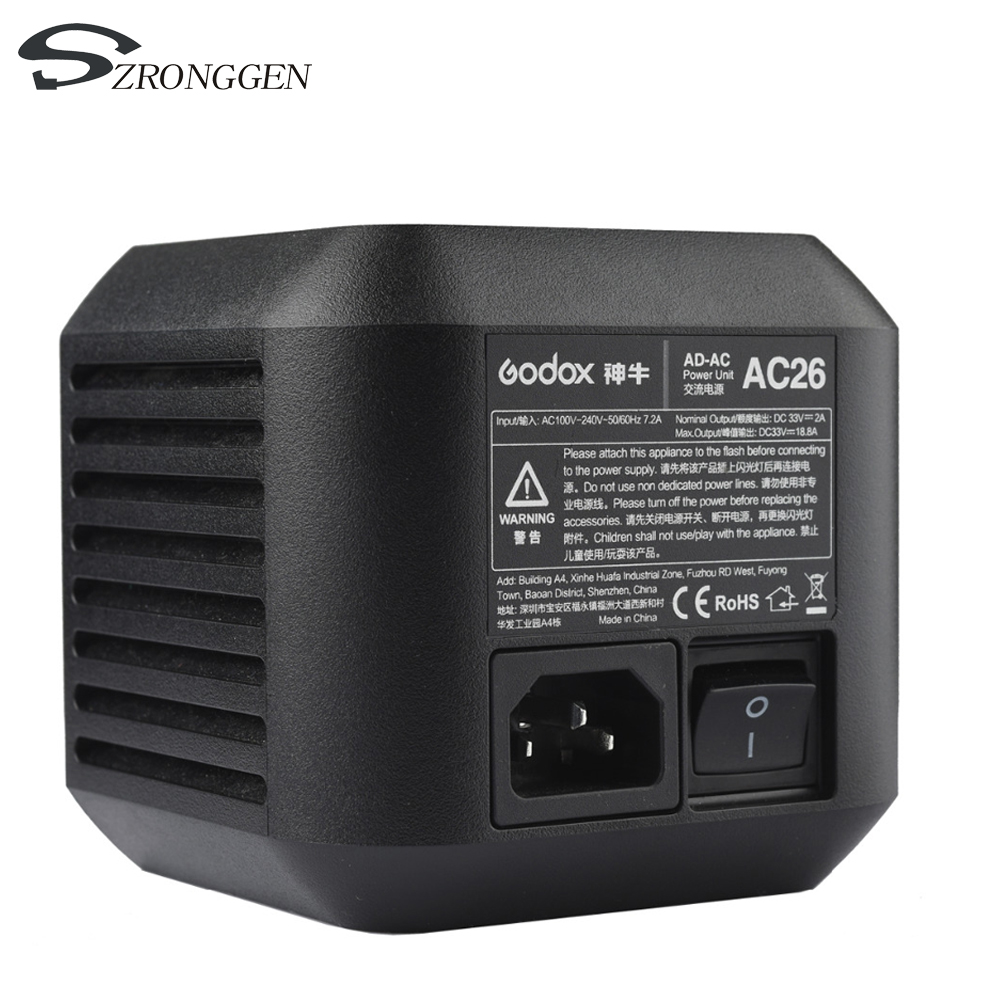 Godox Ac 26 Ac Power Unit Source Adapter With Cable For Ad600pro