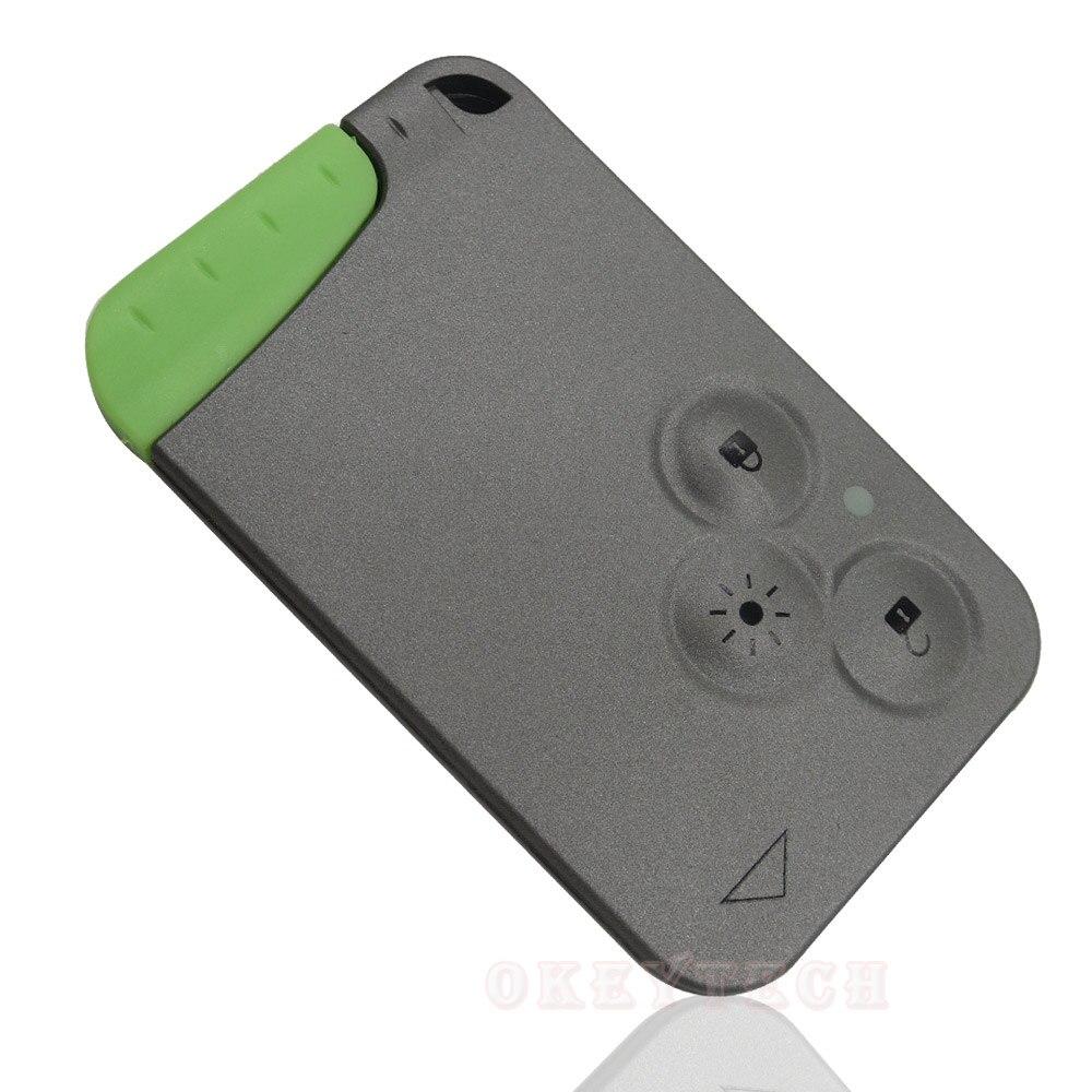 OkeyTech сменный 3 кнопочный дистанционный корпус для ключа-карты оболочка Fob крышка и вставка маленький ключ лезвие смарт-карта для Renault Laguna Espace