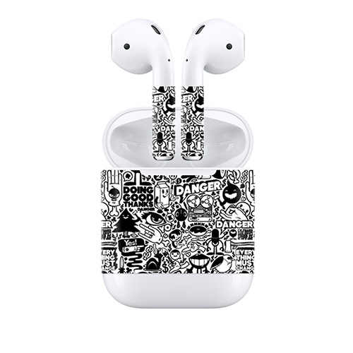 Protective Wrap Vinyl Cover for Airpods Earpiece Waterproof Sticker Skin Decal skin for AirPods Wireless Headphones