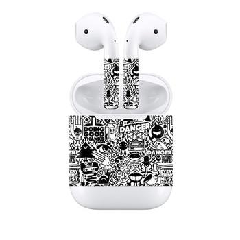 Cubierta de vinilo de envoltura protectora para auriculares Airpods impermeable adhesivo pegatina para la piel para auriculares inalámbricos AirPods