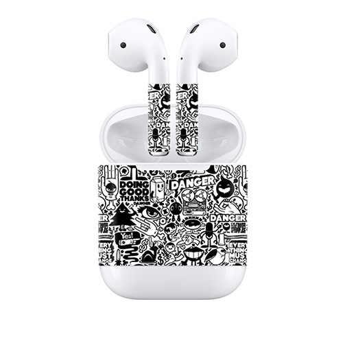 Ochronna Wrap Vinyl pokrywa dla Airpods słuchawki wodoodporna naklejka skóry skórka kalkomania dla AirPods bezprzewodowy/a słuchawki