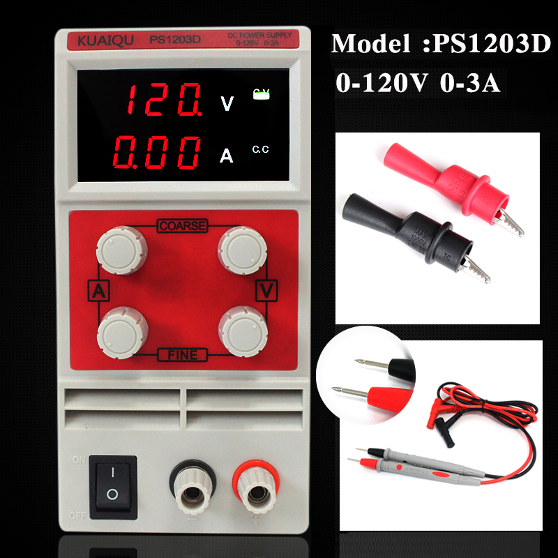 PS1203D 0.1V 0.01A LED Digital Display Double potentiometer precise adjustment professional switching DC power supply sets professional customized precise