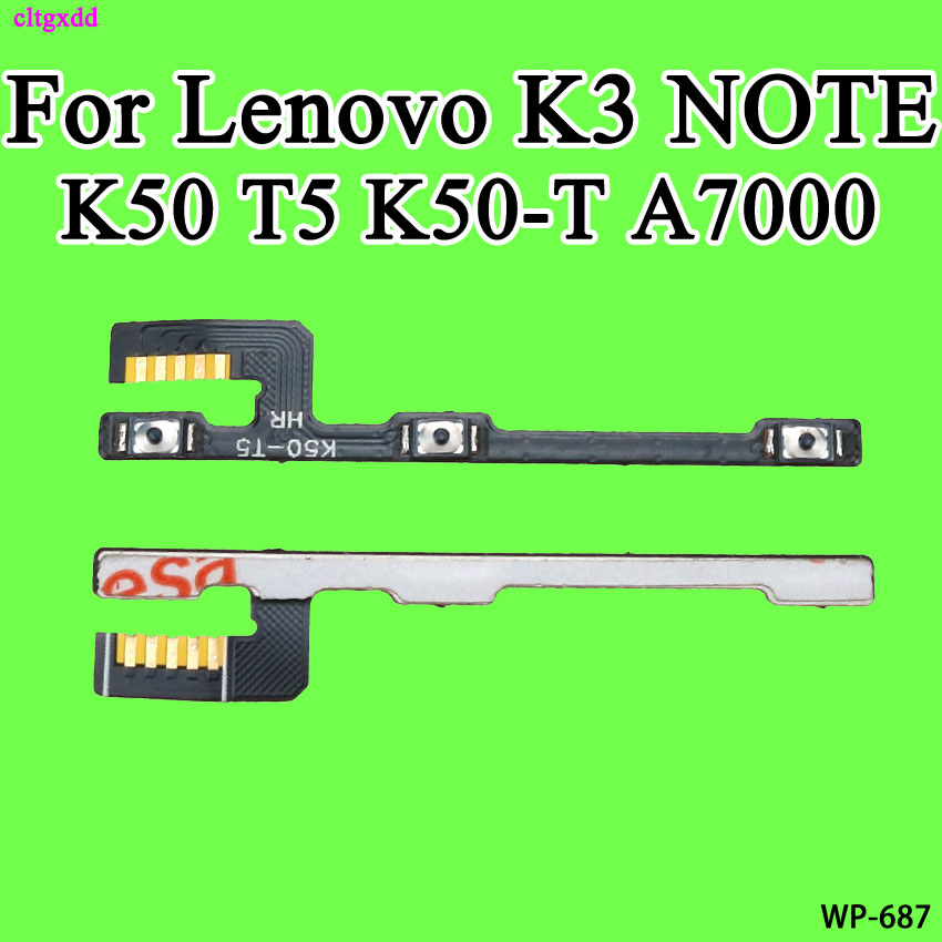 cltgxdd Replacement Power ON OFF <font><b>Volume</b></font> <font><b>Button</b></font> Switch Connector Flex Cable For <font><b>Lenovo</b></font> <font><b>A7000</b></font> K3 NOTE K50 T5 K50-T image