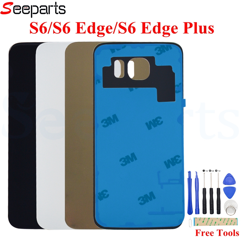 For 5.7 SAMSUNG Galaxy S6 Edge Plus Back Glass Cover Rear Battery Door Housing Case For SAMSUNG S6 Edge Battery Cover image