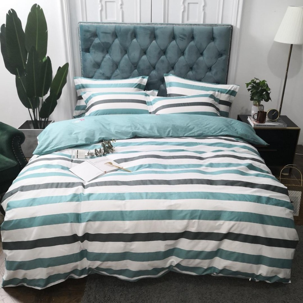 Bedding Set Mediterranean Style Bed Set Luxury Cotton Bed Sheet Queen King Size Duvet Cover Set Blue Bed Linen 3 stylesBedding Set Mediterranean Style Bed Set Luxury Cotton Bed Sheet Queen King Size Duvet Cover Set Blue Bed Linen 3 styles