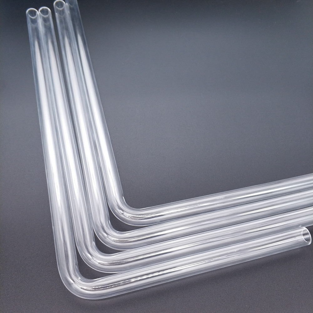 BYKSKI PMMA / PETG Hard Tube ( OD12mm / OD14mm / OD16mm  ) + 2mm Thickness + 90 Degrees Bending Tube Transparent 4pcs/Lots
