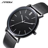 SINOBI Top Brand Fashion Wrist Watches Men Women Watches Full Steel Men S Watch Waterproof Luxury