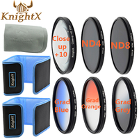 KnightX 52 58 67 72 Close Up lente Macro de 77mm UV CPL Accesorios de filtro para Sony Nikon Canon EOS 5d mark iii DSLR nex nd lente