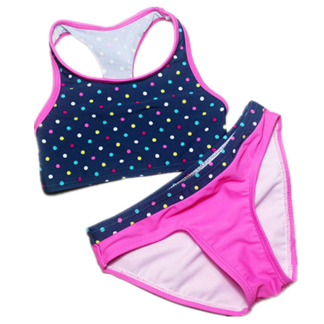 02476c38b Girls Bathing Suits biquini infantil swimwear girls Kids swimming suit two  pieces bathing suit for girl Children bikini set