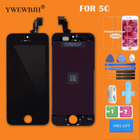 phone screen YWEWBJH AAA LCD Screen For  iPhone 5C Display Touch Assembly Digitizer Glass No Dead Pixel Phone Replacement Parts Black (1)