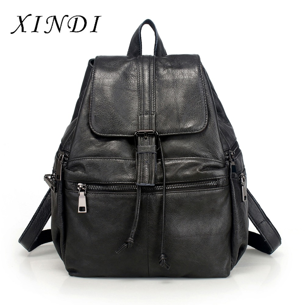 XINDI 2018 Genuine leather Backpack brand Design Mochila Feminina Mochilas School Bags Women Bag Travel Mochilas Mujer Rugzak backpack mochila feminina mochilas school bags women bag genuine leather backpacks travel bagpack mochilas mujer 2017 sac a dos