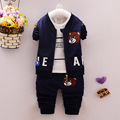 winter Kids Boys Clothing Set 3 Piece Sets Hooded Coat Suits Fall Cotton Baby Boys Clothes Winnie