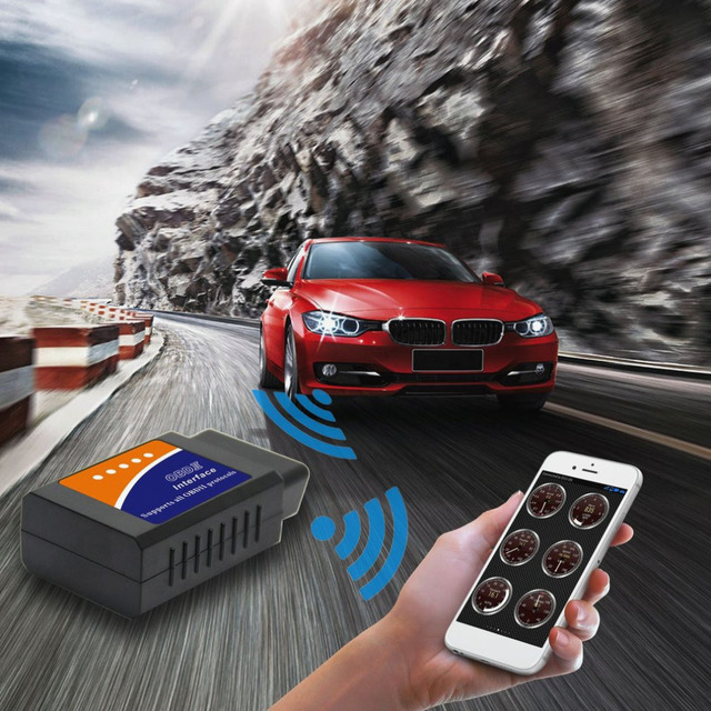 Best Offers V03H2-1 Vehicle Car Auto Fault Diagnosis Scanner Tool OBDII Bluetooth Diagnostic Interface Upgraded Version V1.5 Code Readers