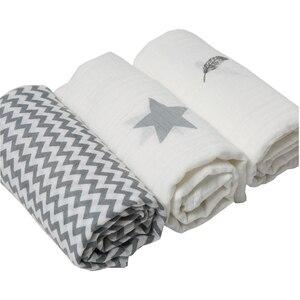Image 1 - Муслиновая ткань 120*120 см, 3 шт./комплект, пеленки для новорожденных из 100% хлопка, детские одеяла, многофункциональное детское полотенце, пеленки