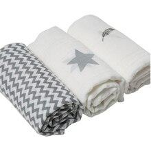 3 szt. Zestaw 120*120cm tkanina z muślinu 100% bawełna noworodek Swaddles koce dla dzieci Multi wzory funkcje ręcznik dla niemowląt trzymaj okłady